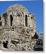 Ruins Of Byzantine Basilica Alanya Castle Turkey Metal Print