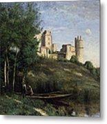 Ruins Of The Chateau De Pierrefonds Metal Print