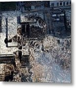 Ruins Of The Collapsed World Trade Metal Print by Everett