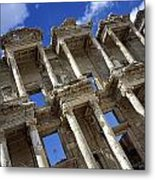 Ruins Of The Great Library At Ephesus Metal Print