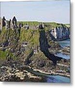 Ruins On Coastal Cliff Metal Print