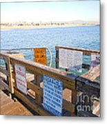 Rules Of The Pier  Metal Print