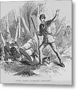 Runaway Slave With Armed Slave Catcher Metal Print