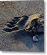 Runners Mark Metal Print