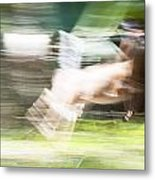 Running Deer Metal Print