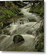 Running Over The Rocks   Metal Print