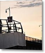 Running The Bridge Metal Print