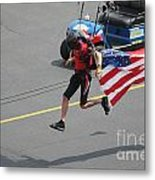 Running With Ol' Glory Metal Print