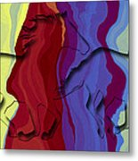 Running With The Wind Metal Print