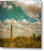 Rural Barbed Wire Fence Metal Print