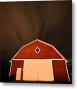 Rural Barn Night Photograhy Metal Print