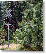 Rural Crossing Metal Print