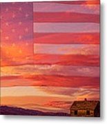 Rural Patriotic Little House On The Prairie Metal Print by James BO  Insogna
