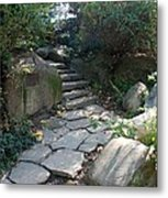 Rural Steps Metal Print