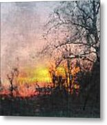 Rural Sunset  Art Metal Print