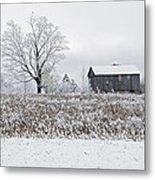 Rural Winter Metal Print