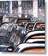 Rush Hour Approach To Midtown Tunnel Nyc Metal Print