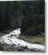 Rushing Thru The Mountains Metal Print