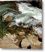Rushing Water Glen Alpine Creek  Metal Print