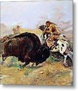 Russell: Buffalo Hunt Metal Print
