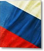 Russia Flag Metal Print