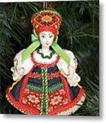 Russian Folk Ornament Metal Print