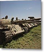 Russian T-62 Main Battle Tanks Rest Metal Print