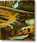 Rust Abstraction Metal Print
