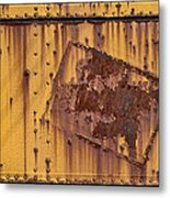 Rust In Sign Metal Print