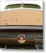 Rusted Antique Buick Car Brand Ornament Metal Print