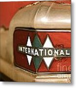 Rusted Antique International Car Brand Ornament Metal Print