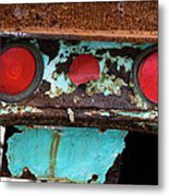 Rusted Blue Taillight Metal Print