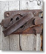 Rusted Latch Metal Print