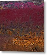 Rusted Wagon Abstract Metal Print