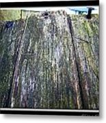 Rustic Boards Metal Print