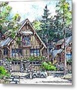 Rustic Cabins Metal Print
