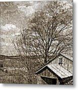 Rustic Hillside Barn Metal Print