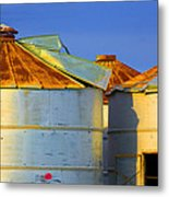 Rustic On The Blue Metal Print