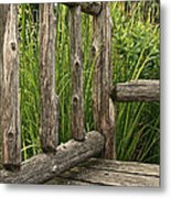 Rustic Seating Metal Print