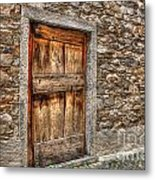 Rustic Stone House With Old Metal Print