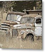 Rustic Trucks Metal Print