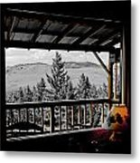 Rustic View Of The Great Outdoors Metal Print