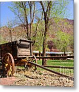 Rustic Wagon At Historic Lonely Dell Ranch - Arizona Metal Print
