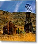 Rustic Windmill Metal Print