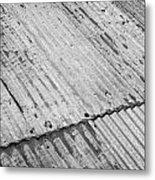 Rusting Repaired Corrugated Iron Roof Sheeting In Edinburgh Metal Print by Joe Fox