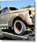 Rusty 1941 Chevrolet . 5d16211 Metal Print by Wingsdomain Art and Photography