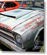 Rusty 1965 Plymouth Satellite . 5d16631 Metal Print by Wingsdomain Art and Photography