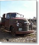 Rusty Abandoned Chevy Truck Metal Print