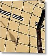 Rusty Barbed Wires Fence  Metal Print