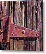 Rusty Barn Door Hinge  Metal Print